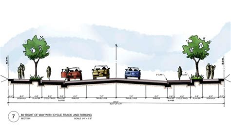 design guidelines portland raised cycle track on cully boulevard portland or