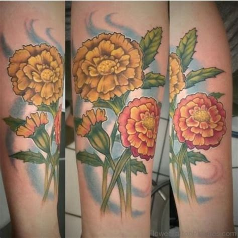 calendula tattoo designs 50 phenomenal marigold flower tattoos