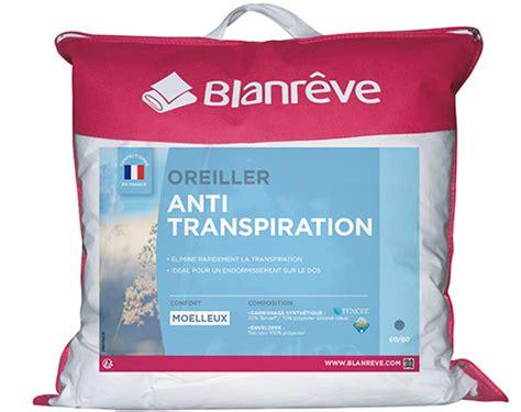 oreillers anti transpiration oreiller anti transpiration oreiller respirant anti