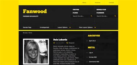 wordpress theme free yellow top 5 free wordpress themes of the month july 2012