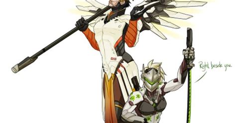 overwatch outfit swap genji  mercy submission