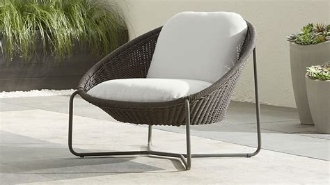 morocco charcoal oval lounge chair  cushion crate  barrel