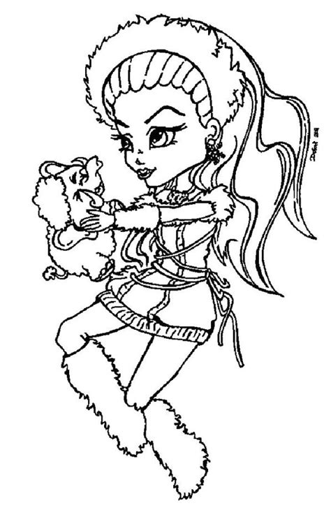 monster high coloring pages baby abbey bominable kids n fun com 32 coloring pages of monster high
