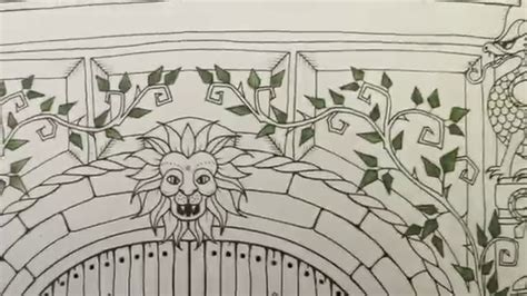 coloring book tutorial enchanted forest tutorial watercolor pencil leaves in