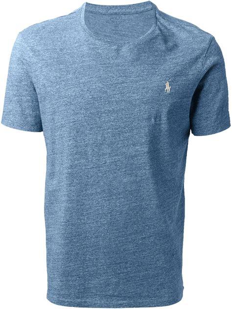pemborong tshirt polo ralph lauren lyst polo ralph lauren custom fit t shirt in blue for men