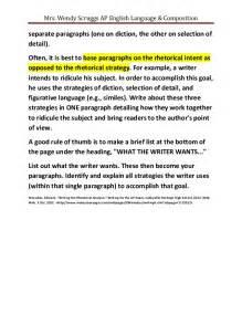 Diction Essay by Weak Rhetorical Analysis Essays
