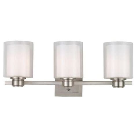 House Oslo Lighting | design house oslo 3 light brushed nickel vanity light