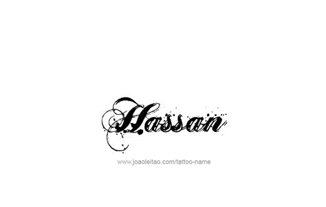 Tattoo Name Hassan | hassan name tattoo designs