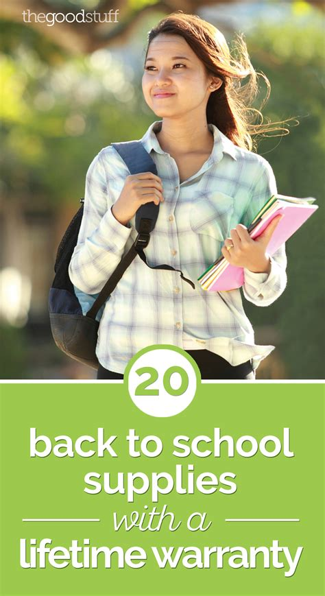 back to back warranty 20 back to school supplies with a lifetime warranty