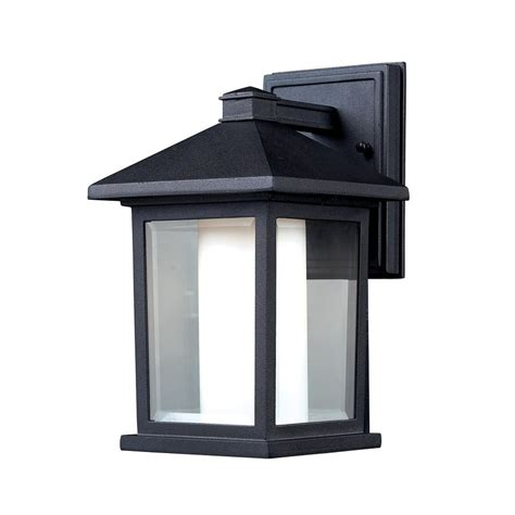 Outdoor Light Lowes Shop Z Lite Mesa 10 In H Black Outdoor Wall Light At Lowes
