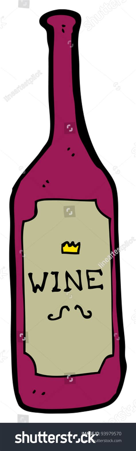 cartoon wine cartoon wine bottle raster version stock illustration