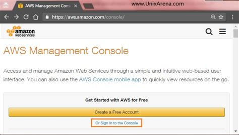 aws console sign in aws dashboard and setup iam part 4 unixarena