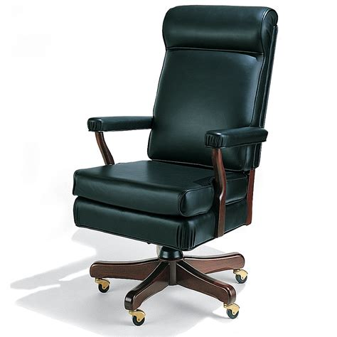 office desk chairs the oval office chair hammacher schlemmer