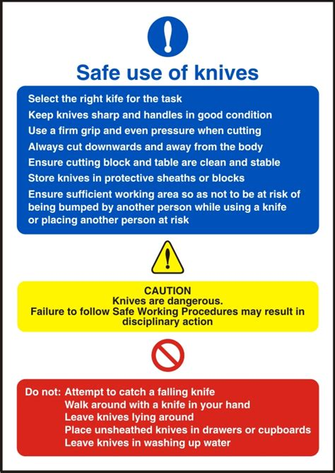 knife safety poster shop safety poster shop safe use of knives health and safety sign ssd