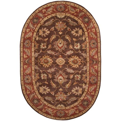 area rugs oval artistic weavers brown 8 ft x 10 ft oval area rug jhn 1036 the home depot