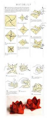 Paper Napkin Flower Folding - lotus and origami on
