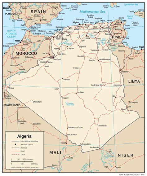 africa map algeria large political map of algeria algeria large political