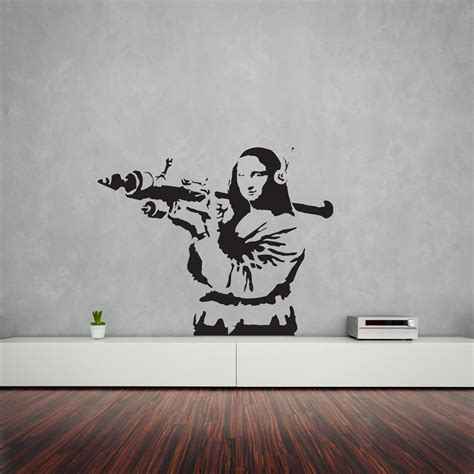 wandtattoo banksy banksy mona with rpg wall decal vinyl revolution