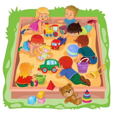 dibujos niños jugando con juguetes los ni 241 os peque 241 os y las ni 241 as sentados en la caja de