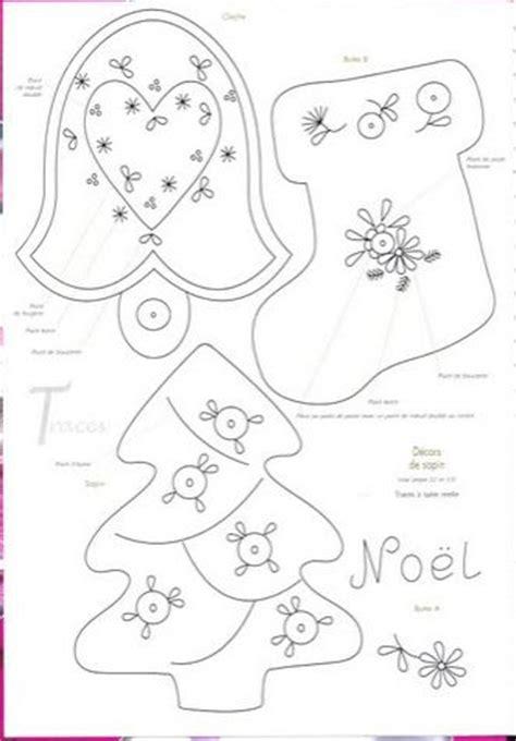 todo con moldes felt christmas ornaments pinterest
