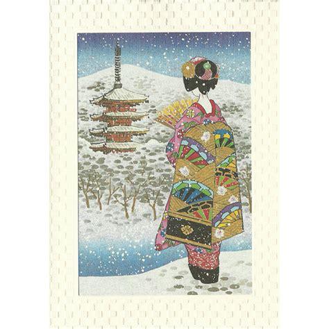 free printable japanese christmas cards japan centre japanese scenery geisha and pagoda greeting