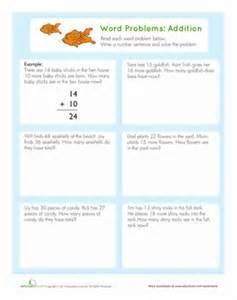 word problems addition worksheet education com