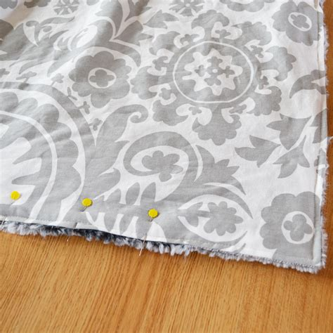 Diy Throw Rug by How To Sew A Blanket From Minkee Minky And Cotton Fabric