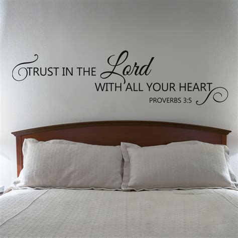 scripture stickers for walls scripture wall decal trust in the lord with all your