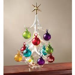 the italian hand blown glass christmas tree hammacher