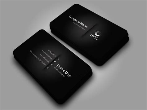 elegant black business card techmix