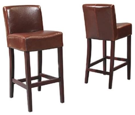 30 inch brown leather bar stools 30 inch leather bar stool brown contemporary bar