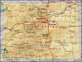 map of state of colorado zachi colorado elevation map