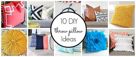 diy cushion ideas 10 diy throw pillow ideas