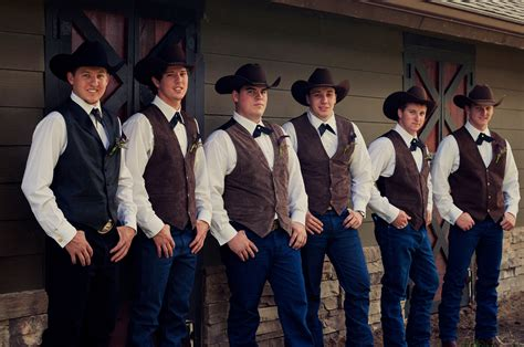 Wedding Western Attire by Western Groom And Groomsmen Attire My Happily After