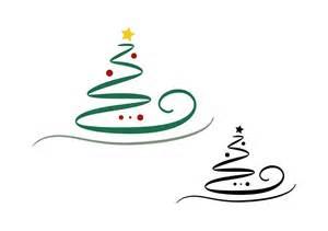 kostenlose illustration weihnachtsbaum abstrakt set