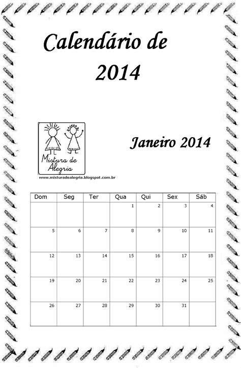 Calendario R 2014 Mistura De Alegria Dezembro 2013
