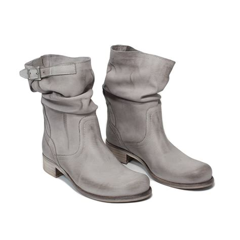 low cut biker boots low biker boots gray summer made in italy