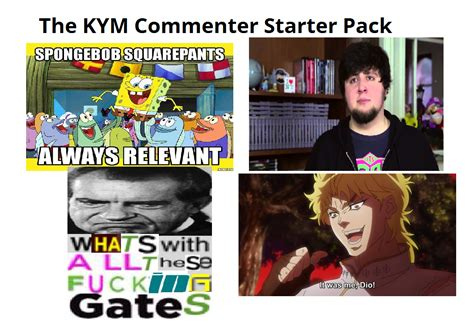 Know Your Meme - the know your meme commenter starter pack knowyourmeme