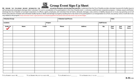 best photos of event sign up sheet printable blank sign