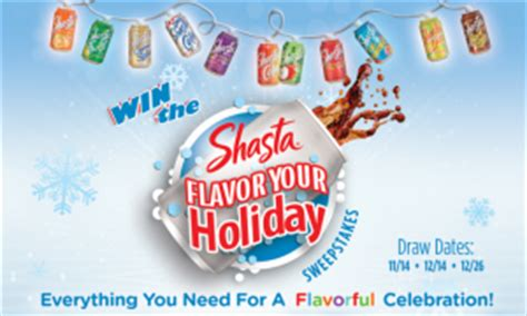 Party City Gift Card - shasta 174 flavor your holiday sweepstakes 2012 win a 150 visa gift card more