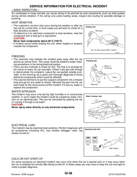 service manual how to time a 2010 infiniti ex cam shaft sensor removal 2010 infiniti ex awd 2010 infiniti fx35 fx50 service repair manual