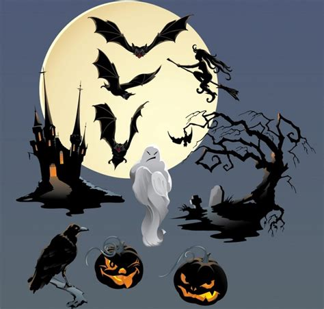 halloween themes vector halloween theme vector free vector in encapsulated