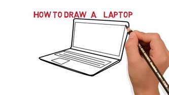 how to draw on a computer laptop how to draw a laptop computer easy sketch drawing