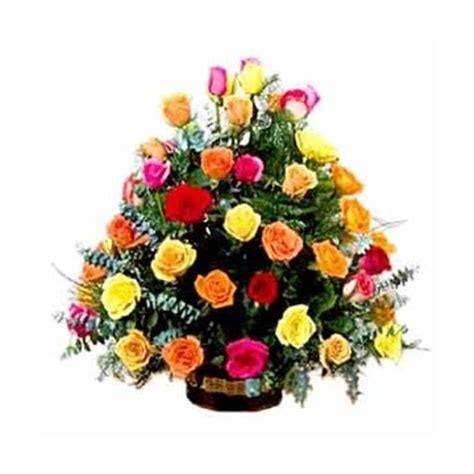 Send Roses by Send Beautiful Roses In A Basket To India Send Roses In A
