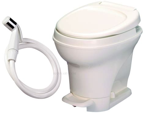 rv bathroom parts thetford 31680 aqua magic v parchment high foot flush rv