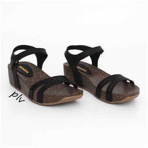 Sandal Cantik Murah Buatan Lokal jual sepatu cantik cewek fashion murah sandal wanita wedges laser rf hitam di lapak
