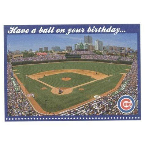 Chicago Cubs Birthday Card Pin By Melissa Pearson On Cubs Pin Cubs Pin Pinterest