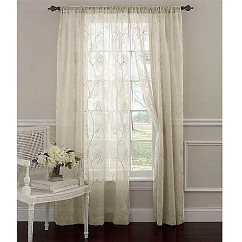 laura ashley cream curtains buy laura ashley 174 frosting 63 inch window curtain panel in