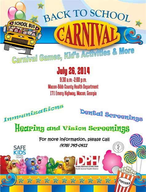 carnival flyer and forms template set pto answers