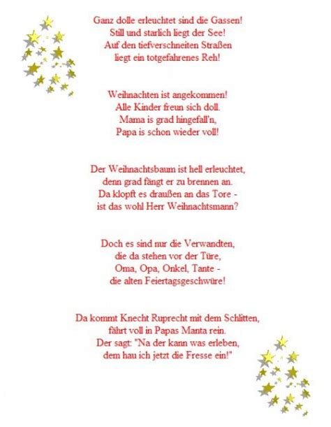 1000 ideas about weihnachtsgedicht lustig on pinterest